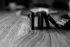 Domino's die - het gaan, gegaan gaan, vallen Stock Afbeelding