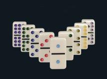 Domino's met Kleurrijke Punten Royalty-vrije Stock Afbeeldingen