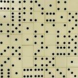 Domino's op de lijst royalty-vrije stock foto's