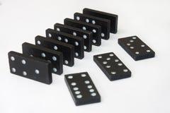 Domino's op de witte achtergrond royalty-vrije stock fotografie