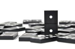 Domino's over wit Royalty-vrije Stock Afbeelding