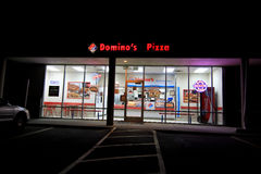 Domino's Pizza at night Royalty Free Stock Images