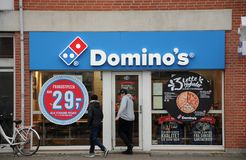 DOMINO`s pizza restaurnt royalty free stock photo