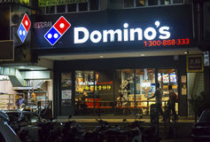 Domino`s Pizza Store in Malaysia. PETALING JAYA MALAYSIA - July 22, 2017: Domino`s is an American chain of pizza restaurants. Domino's Pizza Malaysia began its Stock Photography