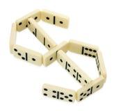 Domino's in vorm van het symbool van de dollarmunt Royalty-vrije Stock Afbeelding