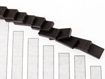 Domino and sales fall diagram Royalty Free Stock Images