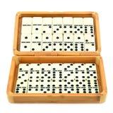 Domino in scatola Immagine Stock