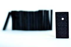 Domino se tenant du concept de foule Photographie stock