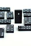 Domino se tenant du concept de foule Images libres de droits