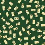 Domino Seamless Pattern. Board Game Texture stock illustration