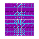 Domino set. 3d Vector illustration.Top view. Royalty Free Stock Photo