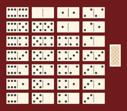 Domino set, the interface for the game. Vector. Stock Photography