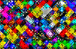 Domino shapes rectangle geometry impressionism Royalty Free Stock Photos