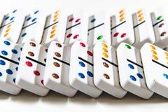 Domino - som över knackas - faller ner Royaltyfri Bild