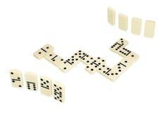 domino spelar den liggande behandlingsformormen Arkivfoton