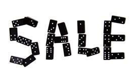 Domino sprzedaży znak ilustracja wektor