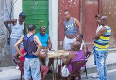 Domino'sspelers in Havana, Cuba Stock Afbeelding