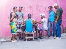 Domino'sspelers in Havana, Cuba Royalty-vrije Stock Afbeelding