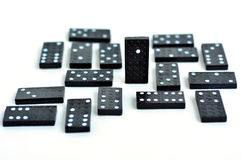 Domino standing out from the crowd concept Royalty Free Stock Photography