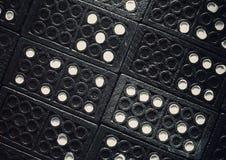 Domino'stexturen stock afbeeldingen