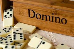 Domino su fondo bianco fotografia stock libera da diritti