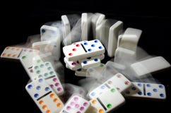 Domino su fondo nero Immagine Stock Libera da Diritti