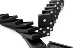 Domino su priorità bassa bianca. Immagine Stock