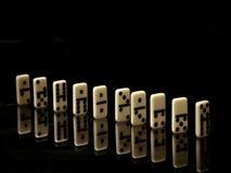 Domino su un fondo nero Immagine Stock Libera da Diritti