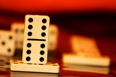Domino success. Scene royalty free stock images