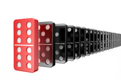 Domino,success concept Royalty Free Stock Images