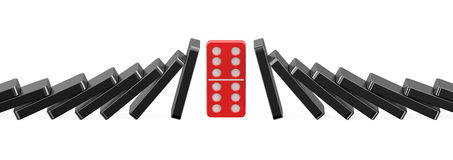 Domino, success concept Royalty Free Stock Image