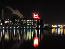 Domino Sugars Baltimore at night Stock Images