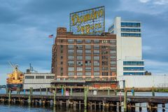 The Domino Sugars Factory, in Baltimore, Maryland stock photos