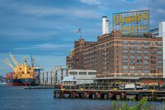 The Domino Sugars Factory, in Baltimore, Maryland royalty free stock photography