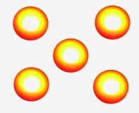 Sun di domino Fotografie Stock