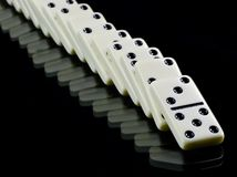 Domino tiles on black Royalty Free Stock Photo