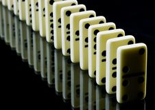 Domino tiles on black Royalty Free Stock Images