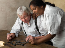 Domino together Stock Photos