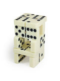 Domino tower Royalty Free Stock Photography