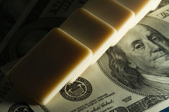 Domino and US dollar Stock Photography