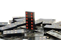 Domino-winnaar stock afbeelding
