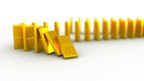 Domino złocisty dolar Zdjęcia Stock