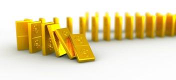 Domino złocisty euro Zdjęcia Royalty Free