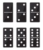 Domino zwarte reeks Royalty-vrije Stock Foto