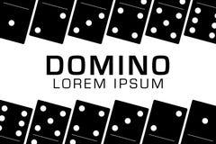 Domino zwarte vastgestelde vectorillustratie op witte achtergrond Royalty-vrije Stock Afbeeldingen