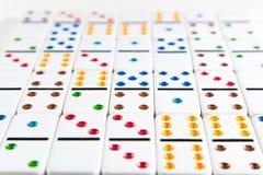 Dominobakgrund Arkivfoton