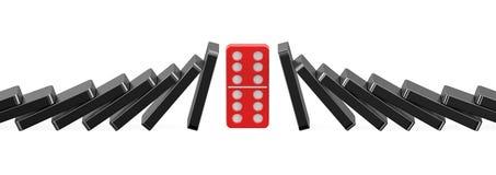 Dominobricka framgångbegrepp Royaltyfri Bild