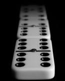 Dominobrickadelar, numrerar sex endast Arkivfoto