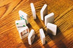 Dominobrickategelplattor royaltyfri fotografi