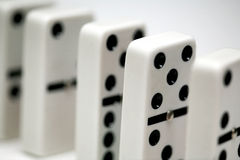 dominodomino arkivfoton